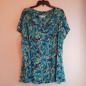 Liz Claiborne women's 2X dress blouse - teal